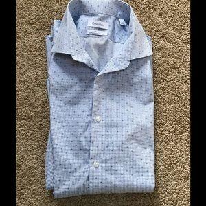 Calvin Klein men's SZ 16,32/33 casual cotton shirt